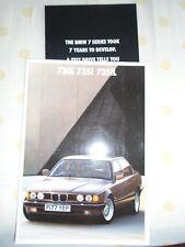 BMW 730i, 735i & 735iL brochure 1989 ed 1