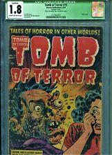 Tomb Of Terror 15 - CGC 1.8 (Q) -COMPLETE.. Classic Cover - The BREAK UP!.....