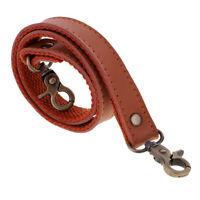 60cm Genuine Leather Canvas Shoulder Bag Handles Handbags Strap Holder Brown