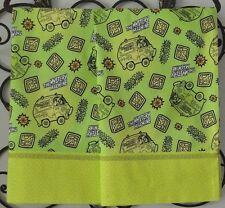 Scooby-Doo Mystery Machine Pillowcases 2 Handmade queen New - lime green Retro