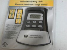 Defiant Outdoor Digital Timer Heavy Duty 15 Amp 7 Days with 3 Grounded Outlet