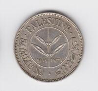 Palestine British Mandate Silver Coin Israel 50 Mils Mil 1939 KM6 Rare AUNC