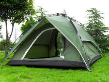 NEW 3-4 Person Green Double layer Waterproof Family Camping Hiking Instant Tent