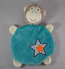 Babydream Monkey Star BLANKIE Comforter BLANKET DOUDOU soft toy brown blue