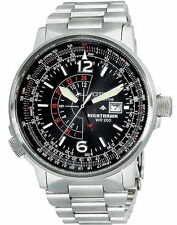 Citizen Men's BJ7000-52E Nighthawk Stainless Steel Eco-Drive Watch