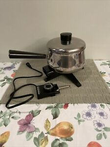 Rare VTG Farberware Electric 2.5 Qt Stainless Steel Pot Pan Perfect Heat Control