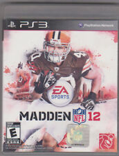 Madden NFL 12 (Sony PlayStation 3, 2011) ~ Used Complete ~