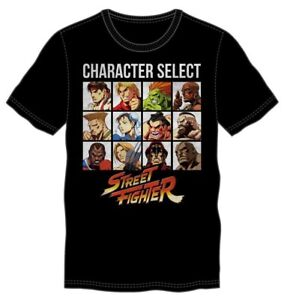 **Legit** Street Fighter Ryu Ken Game Characters Grid Authentic T-Shirt TS4MG4