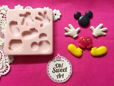 Complete Mickey Mouse silicone mold fondant cake decorating disney toppers wax