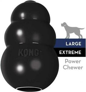 KONG - Extreme Dog Toy - Toughest Natural Rubber, Black - Fun to Large,