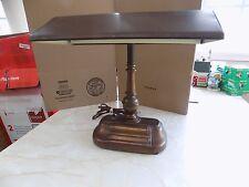 Vintage Banker's Lamp Copper Colored Art Deco Style Fluorescent Desk Lamp