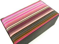 JEWELLERY BOX / STORAGE / TRINKET BOX PINK & BLACK SOFT PADDED.  BY SEEK UNIQUE
