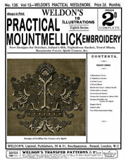 Weldon's 2D #135 c.1896 Instructions for Mountmellick Embroidery (8th Book)