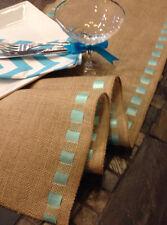 """12"""" X 60"""" Burlap Ribbon Trim Table Runner Wedding Decor"""