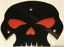 Harley Gloss Black skull backrest mounting plate touring Road King Street Glide