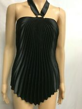 MR K SIZE S ELEGANT BLACK PLEATED TOP,EVENING,SPECIAL EVENT