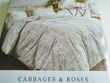 Cabbages & Roses, French Toile, Mint, Super King  Duvet cover