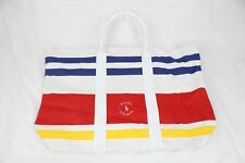 Huge Vintage Ralph Lauren Striped Rugby Canvas Beach Cross-Country Tote Cosmetic