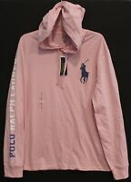 Polo Ralph Lauren Mens Pink Big Pony Hoodie L/S T-Shirt NWT Size L