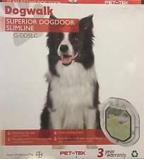Dogwalk Slimline Pet door by Pet-Tek Glass Fitting Dog Door Clear 4 Locking