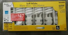 Bright Effects (1 Pack of 6) 60-W  Replace Soft White CFL Light Bulbs