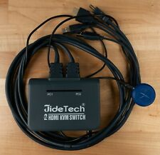 JideTech 2 Port Hdmi Kvm Switch with Cables Selector Switcher for 2 Computers