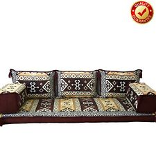Arabic Sofa Oriental Moroccan Set Kilim Floor Corner Cushions Brown Only covers