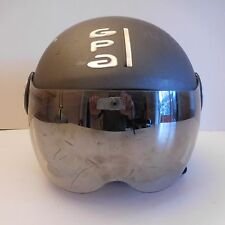 Casque moto motorcycle helmet GPA A-NIUM gris noir gray black design XXe France