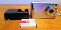 Sony Cyber-shot DSC-W80 7.2 MP 3x Optical Zoom Lens Silver