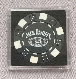 JACK DANIEL'S OLD No.7 BRAND CASINO/POKER CHIP CARD GUARD/PROTECTOR - Black (a)