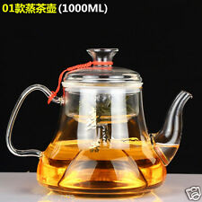 Brew Tea Kettle Steam Pot Glass Teapot with Infuser & Lid, Ceramic Hot Plate Use