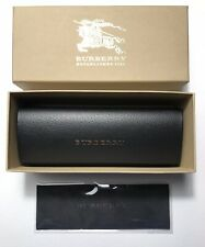 Burberry Eyeglass Sunglass Hard Case Black With Cleaning Cloth Authentic( SMALL)