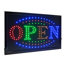 "Large 4 Color High Visible Led Light Business Open Sign Chain Switch 21.5""x13"""