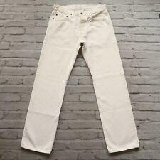 Vintage Levis 501 Denim Jeans 501-0975 White 90s