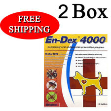 2 BOX Pet Tablet Pill EnDex4000 Remove Prevent Ticks and Fleas for Dogs Cats