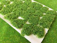 Bushy Light Green - Big Meadow Tufts -Static Grass Model Railway Wargame Scenery