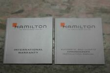 Hamilton vintage kit booklet warranty papers chronograph blank newoldstock