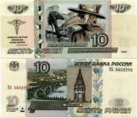 Russia 10 rubles + overprint, Pandemic, Plague doctor, UNC