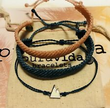NWOT PURA VIDA MOUNTAIN CHARM AMD BRAIDED BRACELET SET