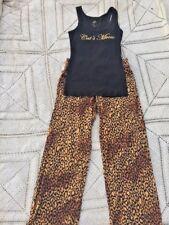 "Sexy Leopard "" Cat's Meow "" Victoria's Secret Lounging Pajama Set Womens Sz M"