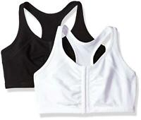 Fruit of the Loom Women's Front Close Racerback (Pack of, Black/White, Size 40 O