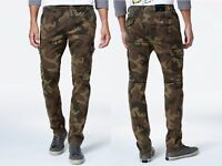 TRUE RELIGION Brand Slim Cargo Flap Pocket Camo Mens Jeans Casual Pants