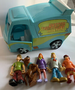 Scooby Doo The Mystery Machine Trap Time Van Lot 5 Figures Hanna-Barbera Scoob