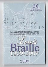 Italia 2 € commemorativo 2009  Braille