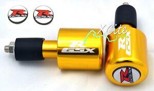 Gold barends bar ends Suzuki GSXR600 GSXR750 GSXR1000 GSXR1100 #BE109GL#