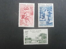 """1957  Algeria set of 3 mint stamps - Army Welfare Fund Inscr. """"Oeuvres Sociales"""