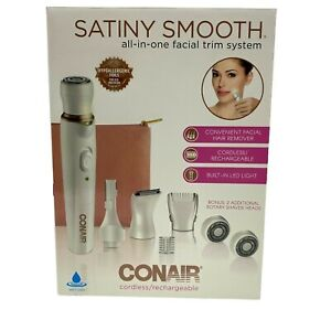 Conair Satiny Smooth All In One Facial Trim System Cordless Rechargeable New
