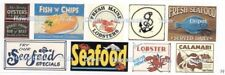 Seafood Cafe, Restaurant, Stores and Shops Water Transfer Decals Set #1 O Scale