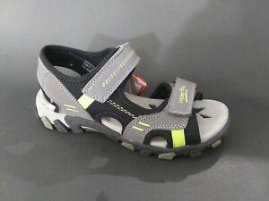 New $80 SUPERFIT Kids Boys Hiking Sport Sandals Gray LEATHER Sz 2 USA/34 EURO