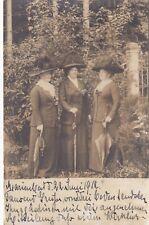 AK Foto Marienbad 1912 Damen Mode Hüte Philatelie Österreich Ecken gebraucht